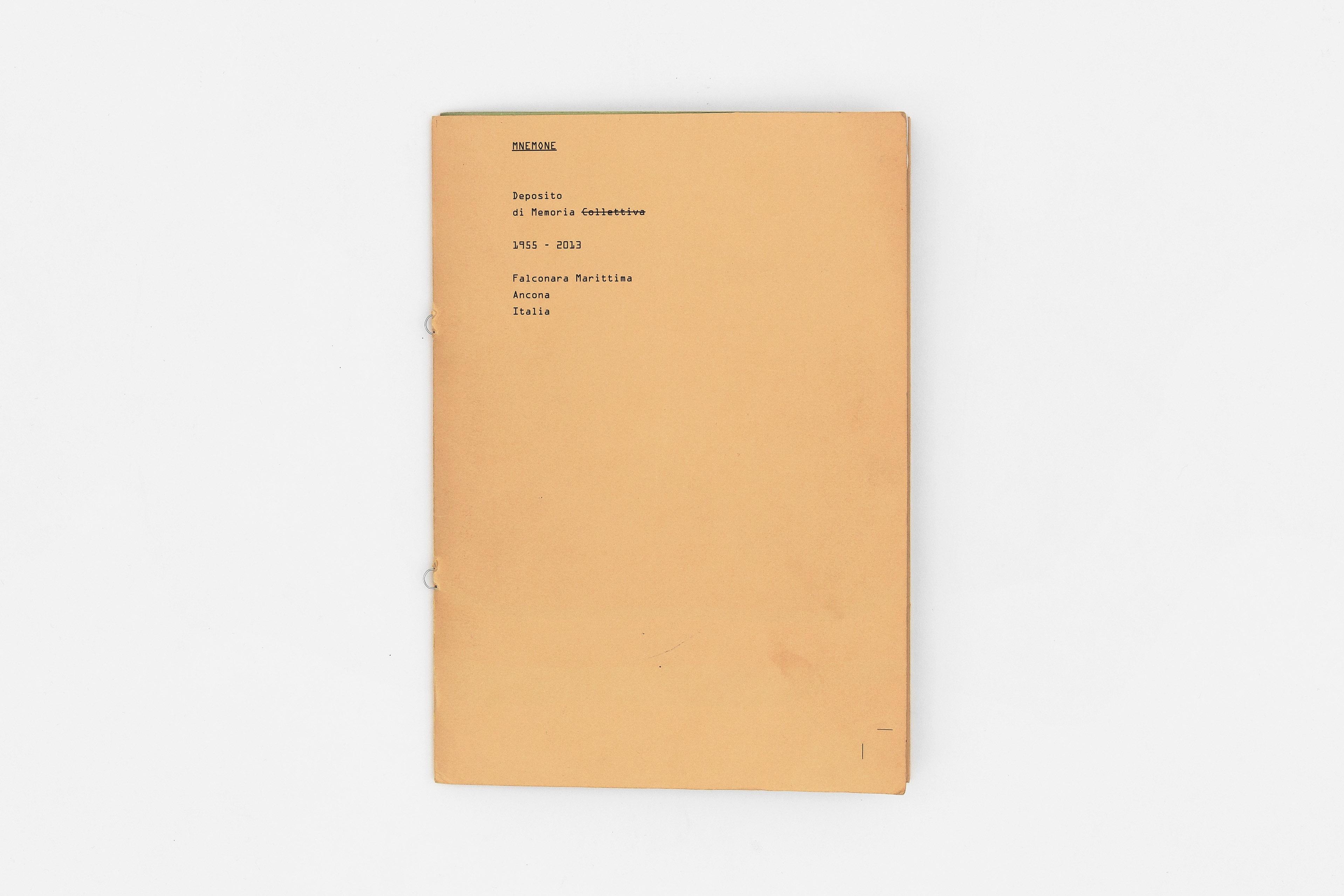 Nicola Leck - Mnemone / Esame Triennio ISIA