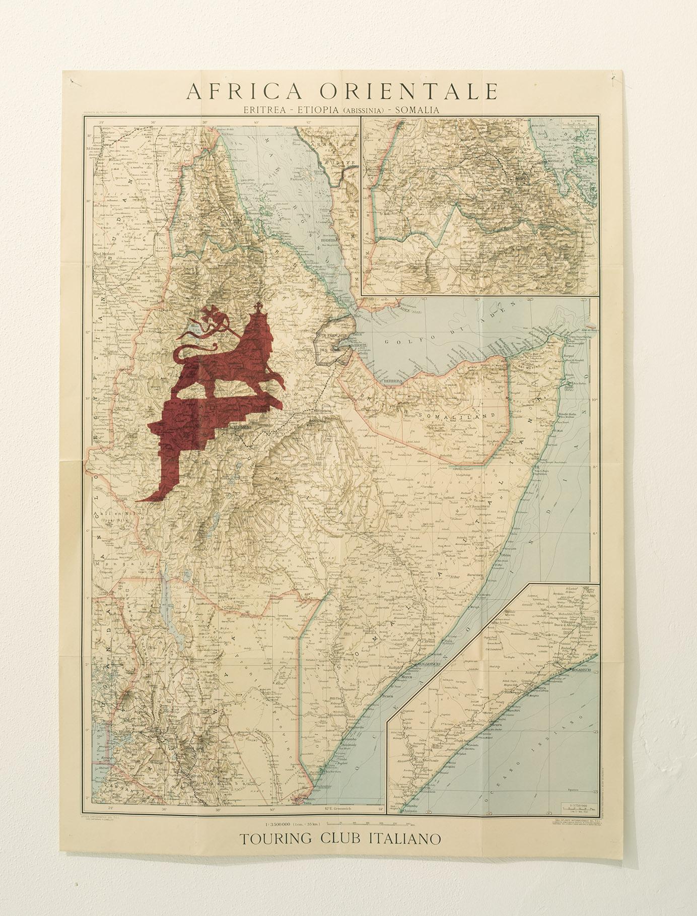 Stampa diretta su cartina originale 1936 70x90